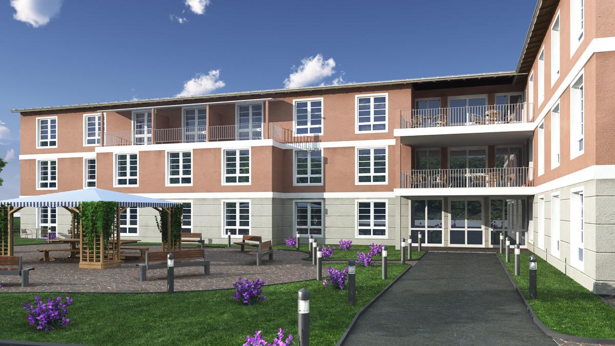 Bilder aus dem Beitrag: 3D Architekturvisualisierung ''Seniorenheim Marzling''
